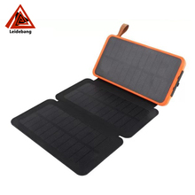 2017 trending hot waterproof solar power bank led lamp 12000mah battery charger with extral solar panel