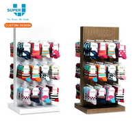 customized brand socks retail display sox display stand