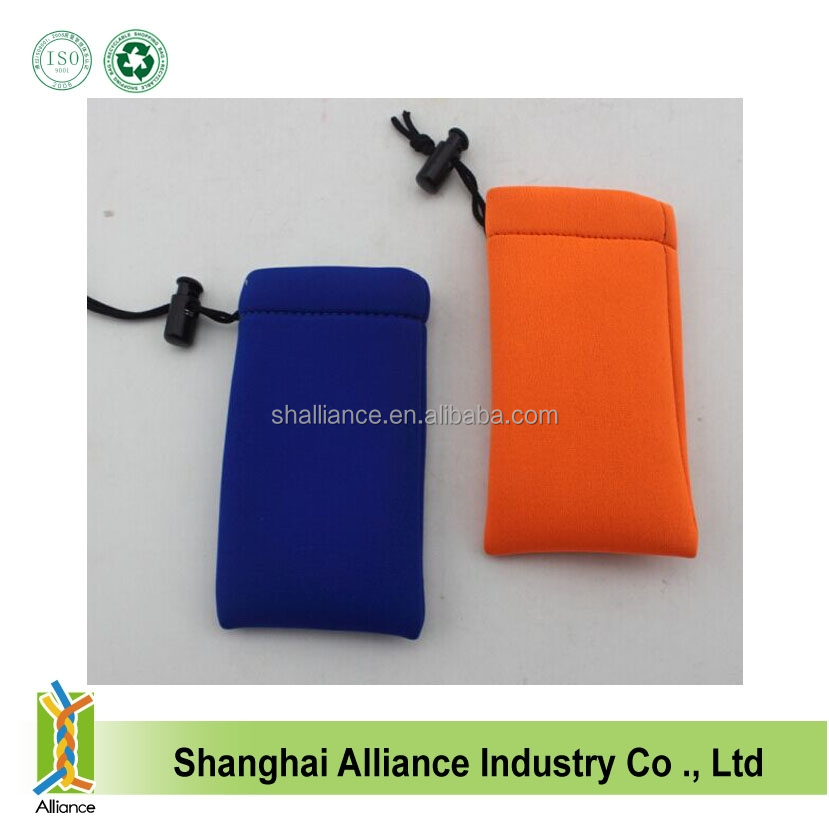 Cheapest Eco Neoprene Mobile Phone Case With Drawstring Closure