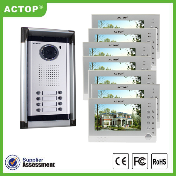 Security Protection Wired Access Control Room Door Video Phone Intercom