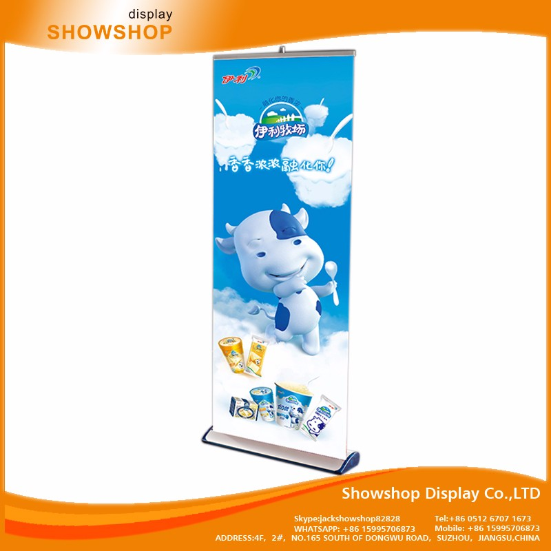 New style Friendly pop roll up banner stand display