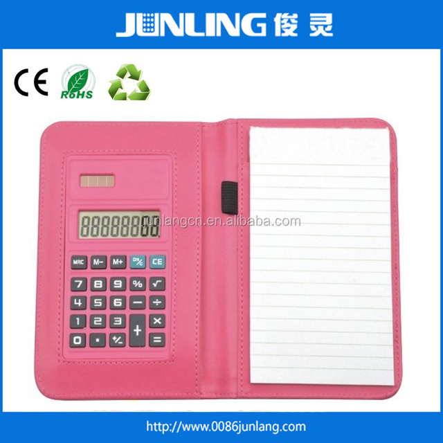 8 Digit Rubber Key Calculator with Notebook
