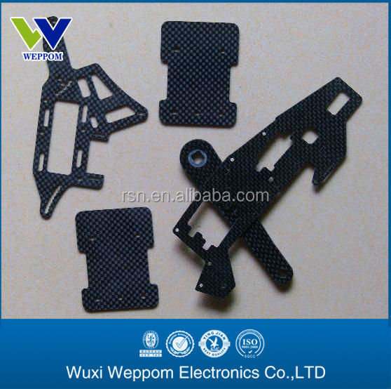 Factory price cnc toy control plane parts/carbon fiber custom parts