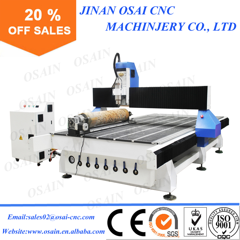 Chinese 1325 Cylinder CNC Router Engraver Machine Wood Rotary Machine with 4 Axis