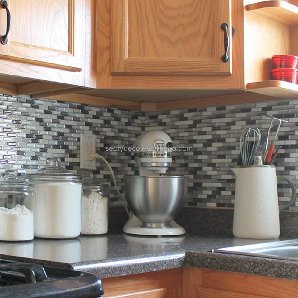 Backsplash stick on tiles kitchen