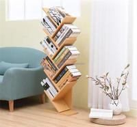 tree style wood book shelf , CD rack