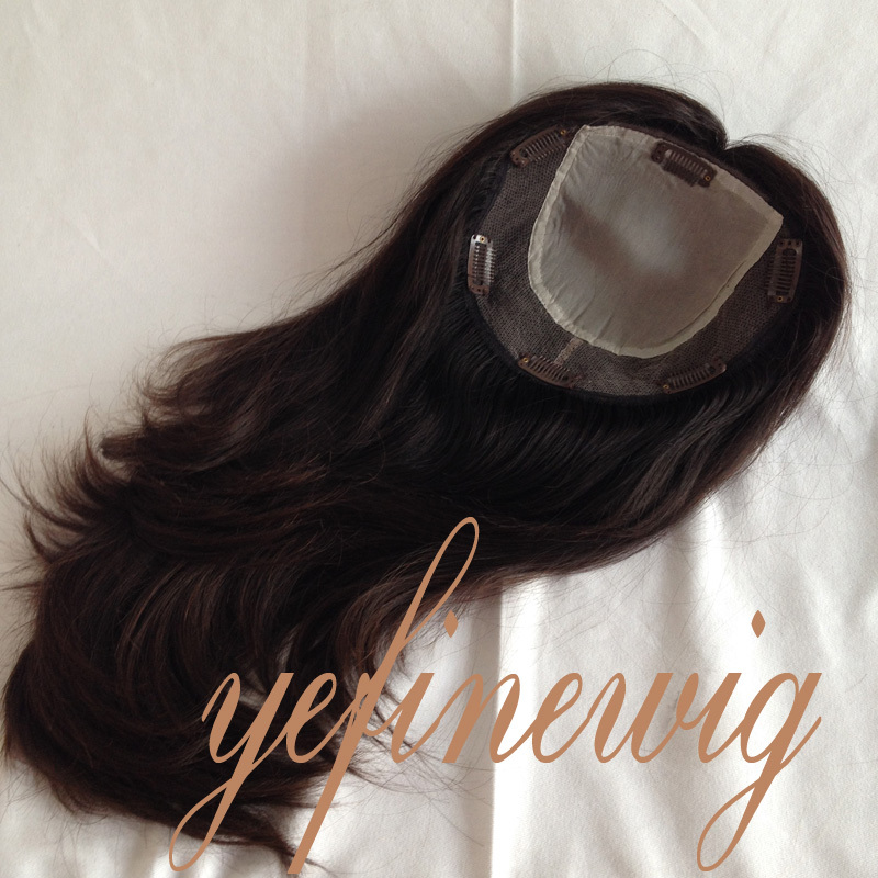 Silk Top Indian Hair Toppers For Women With Clip In Buy