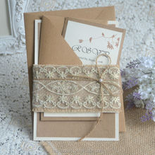 Grace marriage card sample vintage style lace decoration wedding centerpieces invitation kit