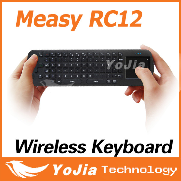 Touchpad Mini Fly Air Mouse RC12 2.4GHz wireless Keyboard for google android Mini PC TV Palyer