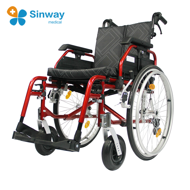 Height Adjustable Aluminum Panacea Wheelchair with Adjustable Detachable Arms, Quick Release Wheels
