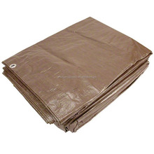 3mx 4m brown pe tarp hay cover ,outside machine cover , and waterproof cover