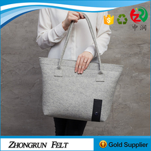 African Fabrics Factory Directly Wool Felt Hand Bag Large Space Mommy Felt Tote Bag For Outdoor