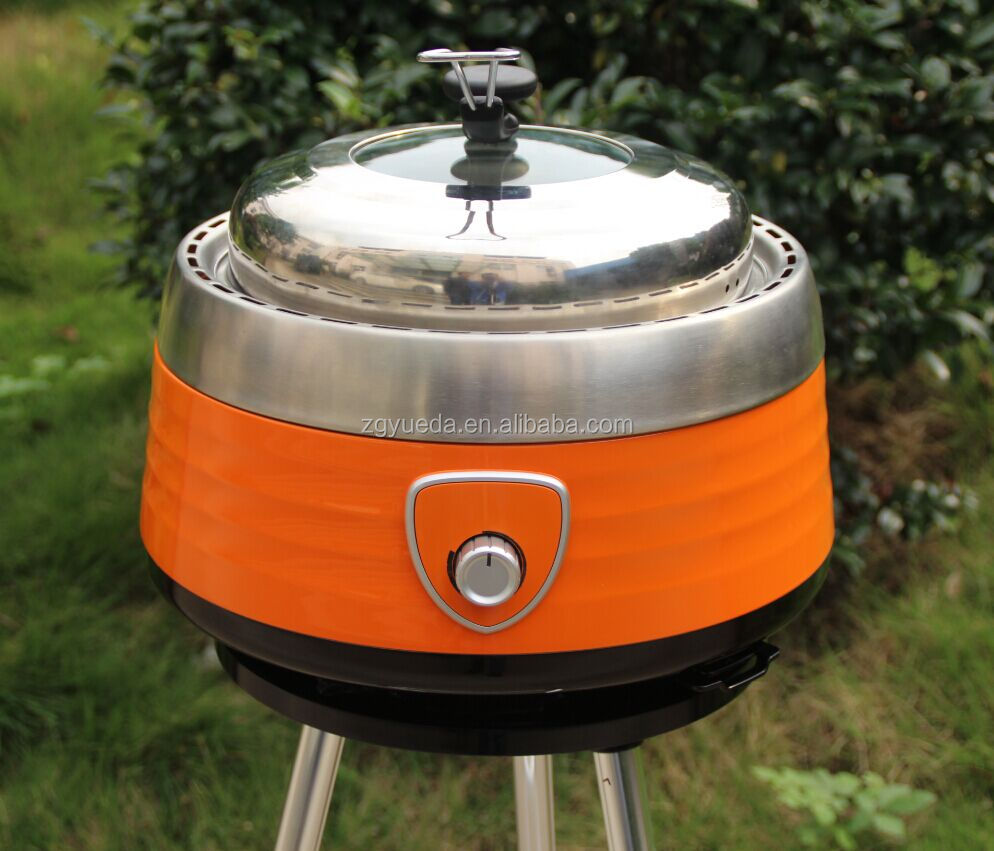 Smokeless Stainless Steel portable Charcoal barbecue grill bbq grill