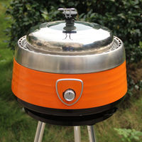 Smokeless Stainless Steel Portable Charcoal Barbecue