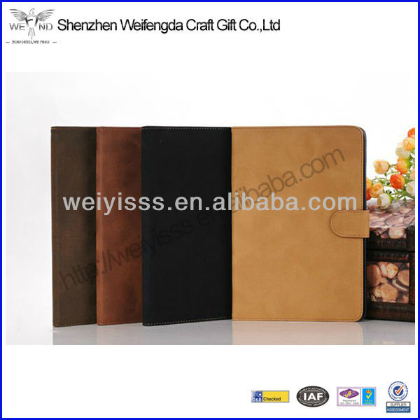 Simple Nice Colorful Foldable Leather Case For Apple iPad