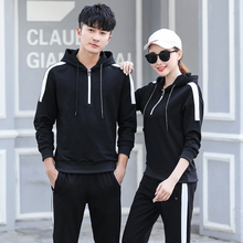 2018 spring and autumn <strong>sports</strong> suit men's and women's long sleeve garment and trousers <strong>sports</strong> suit couples <strong>sports</strong> suit wholesale