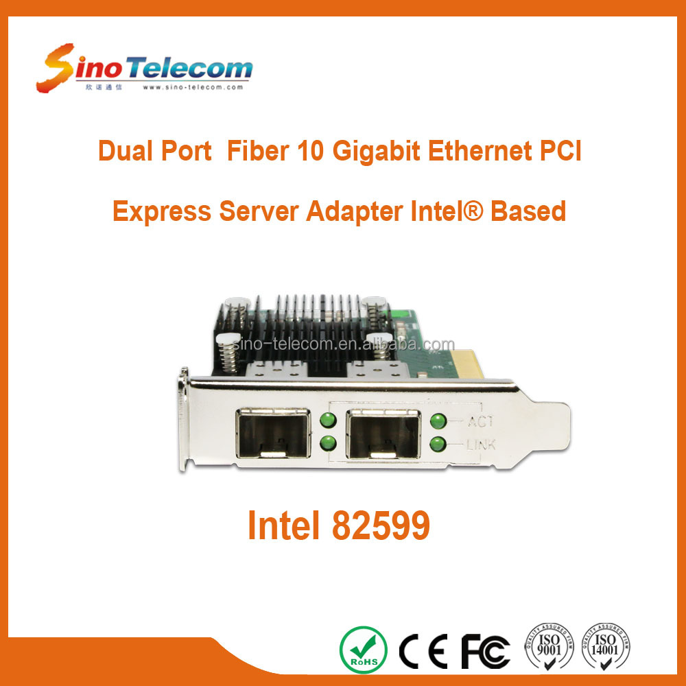 Sino-Telecom Dual-Port Fiber 10 Gigabit Ethernet PCI Express Server Network Adapter Intel Based
