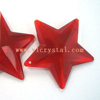 crystal red star shape for chandelier pendants crystal chandelier accessories