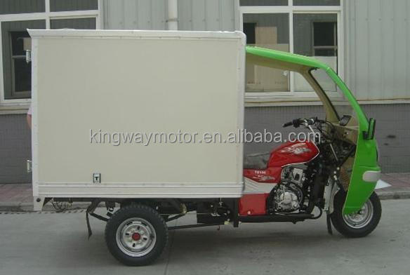 Chongqing Golder Supplier Enclosed Adult Pedal Tricycle 250cc Water/Air Cooling Motor Cargo Tricycle On Sale