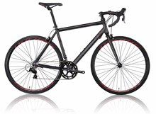 700C 16 speeds Black road bikes sports direct bike sale