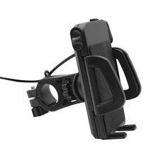 Bike Motorcycle Mobile <strong>Phone</strong> Holder GPS Mount Holder Easy Installation with USB Charger Black for All mobile <strong>phones</strong> some tablets
