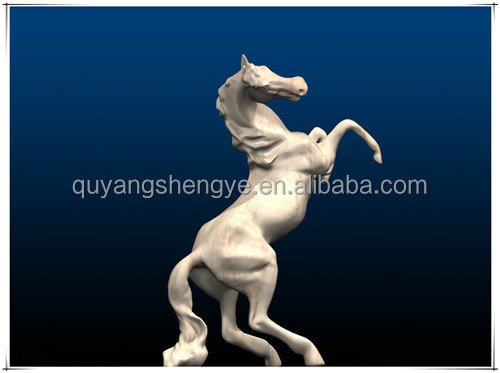 marble horse head carving