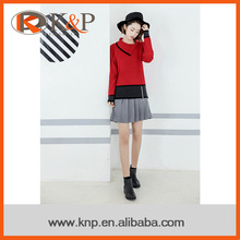 Any color can be customized ribs design knit sweater for young girls