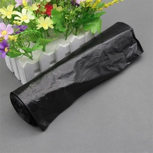 Hot selling plastic garbage bags trash bags rubbish bags on roll with paper label