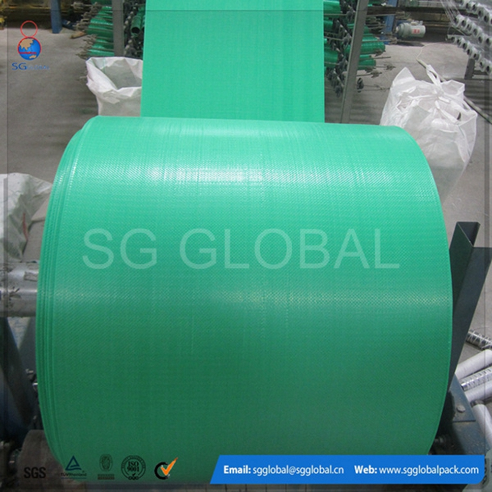 Wholesale green woven polypropylene fabric in roll