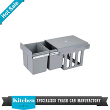 kitchen accessories stainless steel open top structure kitchen cabinet dustbin