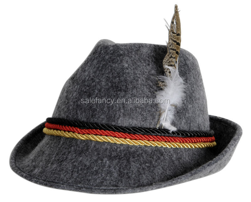 Holiday Oktoberfest Wool Bavarian Alpine Hat german tyrolean hat QHAT-2012