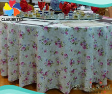 Printed Round Table Linen for home/ Jacquard printed Table Cloth