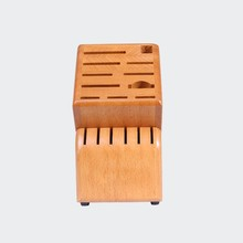 Wooden or Bamboo Knife Block Kitchen Knife Holder