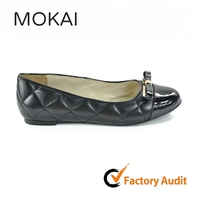 MK073 black soft sheep skin buble leather real leather high end quality flat ballet flat mama shoe OEM/ODM