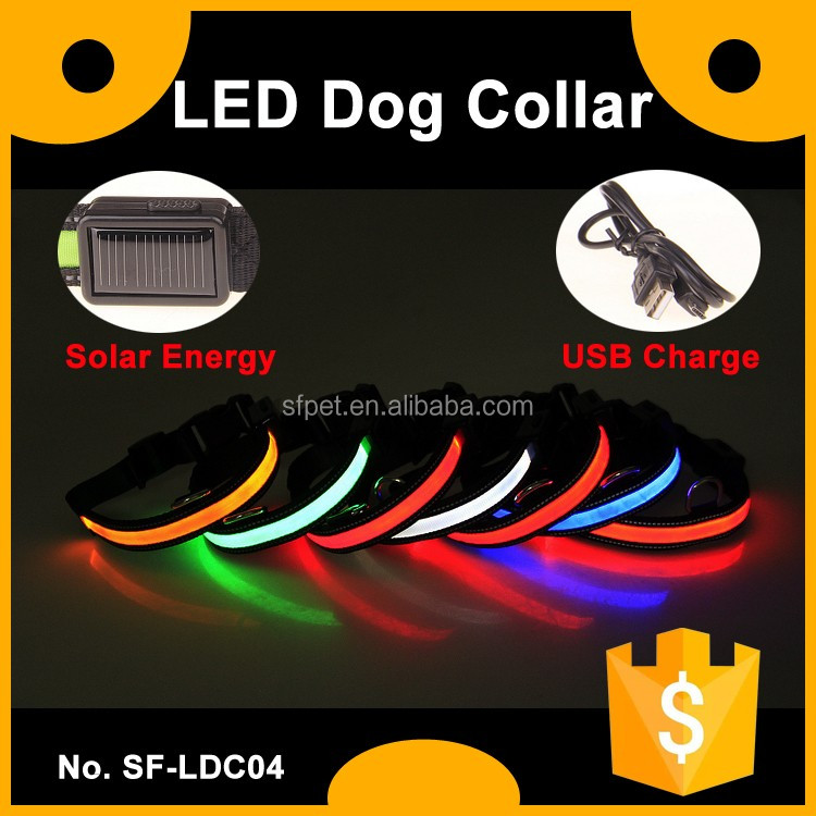 Waterproof Solar Energy Led Dog Collar