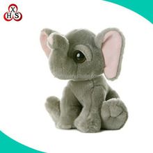 Environmental china made custom cute soft plush elephant toy skin