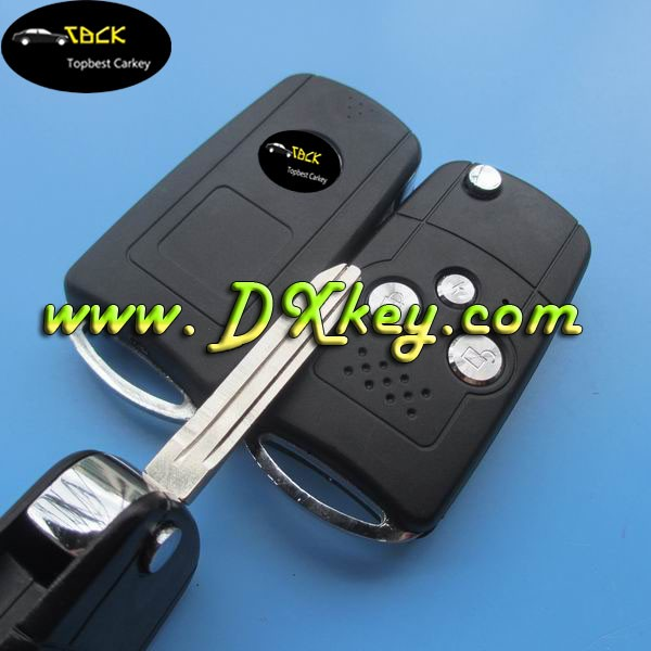 Modified 3 buttons replacement remote key entry for Toyota Camry key case