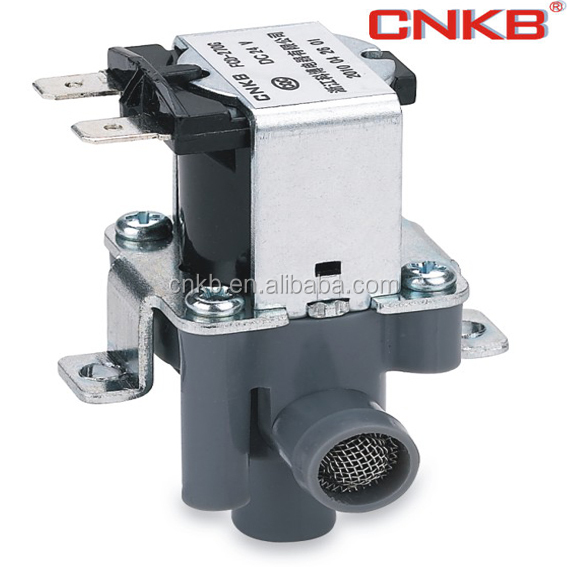 plastic and small DC12V water solenoid valve with grey plastic body