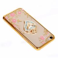 Luxury Diamond Electroplate Secret Garden Tpu Cell Phone Case for LG G7 ThinQ Q7