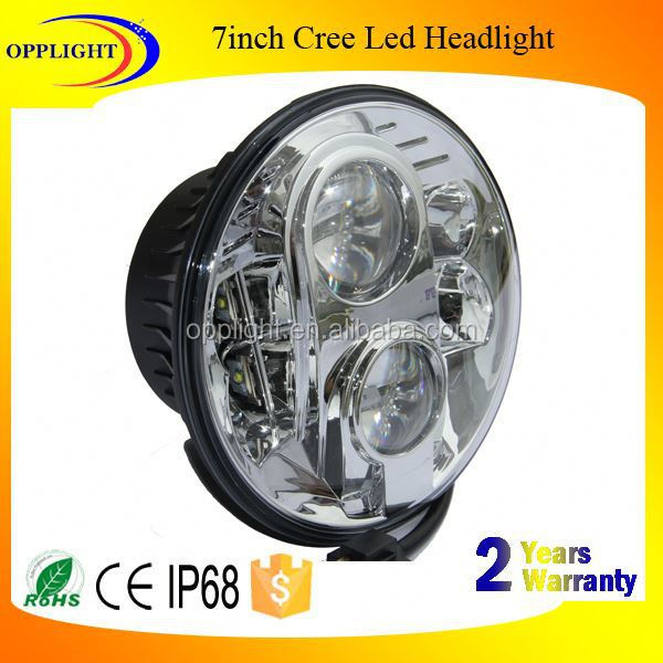 Opplight 12 24 volt led headlamp 7inch 80w for harley led healight hi/lo beam car autobike led for jeep wrangler harley