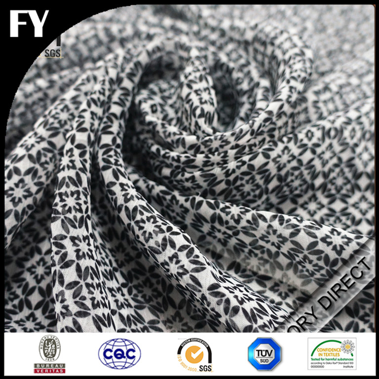 Custom design print 95 cotton 5 spandex fabric
