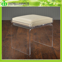 DDH-0060 ISO9001 Chinese Factory Wholesale SGS Test Modern Crystal Clear Vanity Stool