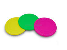 FDA Soft silicone rubber old navy dog frisbee,dog frisbee with logo