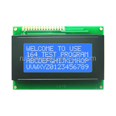 STN blue 16 character 4 line LCD Display Module with bezel and backlight