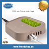 HOCO brand best office 6-port USB travel charger with grass