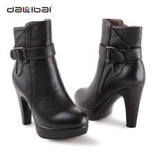 Brand Name Spanish Fur Lined Sexy Genuine Leather Boots Women