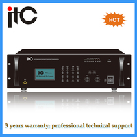 IP Network Broadcast class d amplifier for ip audio system