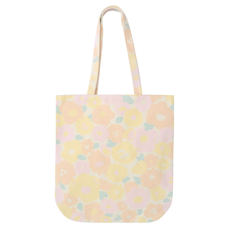 big yellow floral print canvas tote bags women handbags lady