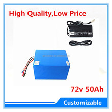 High Power Rechargeable li ion li-ion 72v 50ah lithium ion battery