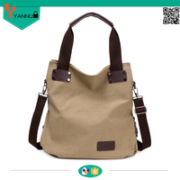 fashion large capacity canvas wholesale tote bags ladies stylish canvas shoulder handbag